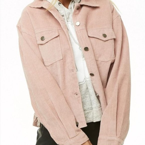 Forever 21 Jackets & Blazers - Light Pink Corduroy Trucker Jacket